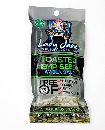 Lady Jane – Toasted Hemp Seeds with Sea Salt 1.5oz