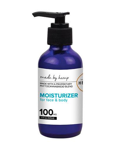 Hemp Moisturizer for Face and Body (100mg CBD) 4oz pump top