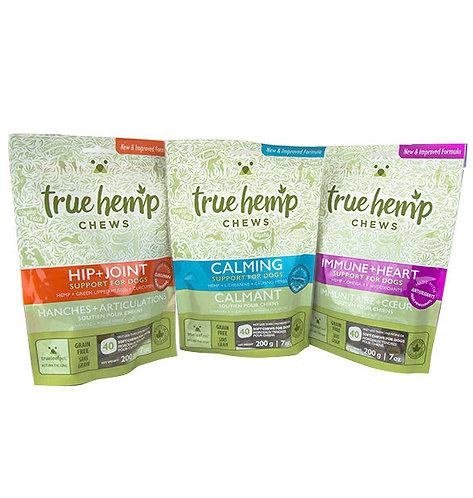 True Hemp Chews – 3 Versions (Calming, Hip + Joint, or Immune + Heart)