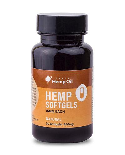 Tasty Hemp Oil – Hemp Softgels 30 Count (450mg CBD)