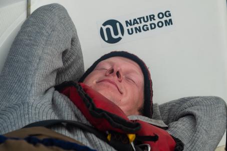 Audun sover FOTO Thor Due / Natur og Ungdom