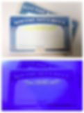 Black Light reveals authentic green watermark on Social Security Card thanks to Security Ink