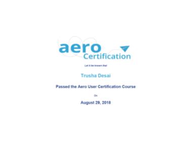 Aero Certification - Trusha Desai