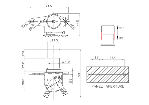 headlamp dimmer switch/drawing of FE-A1406