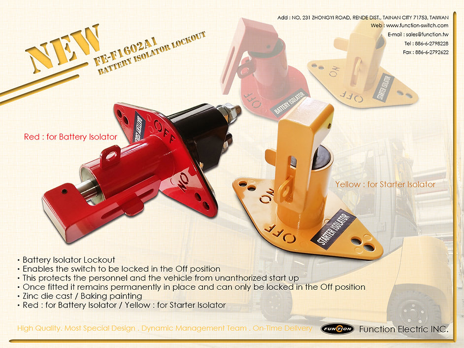 New Product FE-F1602A1/lockout