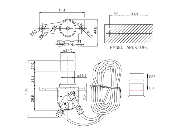 headlamp dimmer switch/drawing of FE-A1407