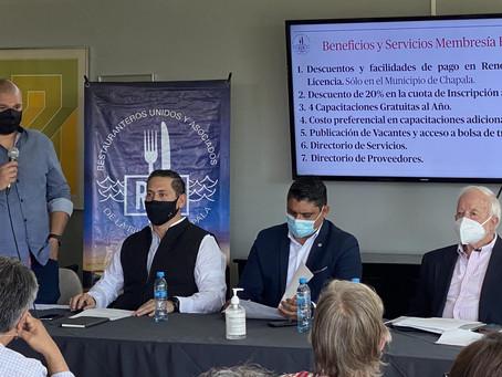 Rueda de Prensa: Plan de Reactivación Económica para el Sector Restaurantero de la Ribera de Chapala