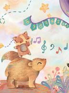 Ilustración temática para mural digital