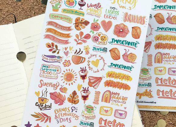 Planilla Stickers Random Vol.3