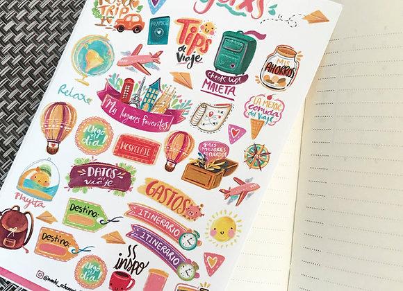 Planilla Stickers Viajes
