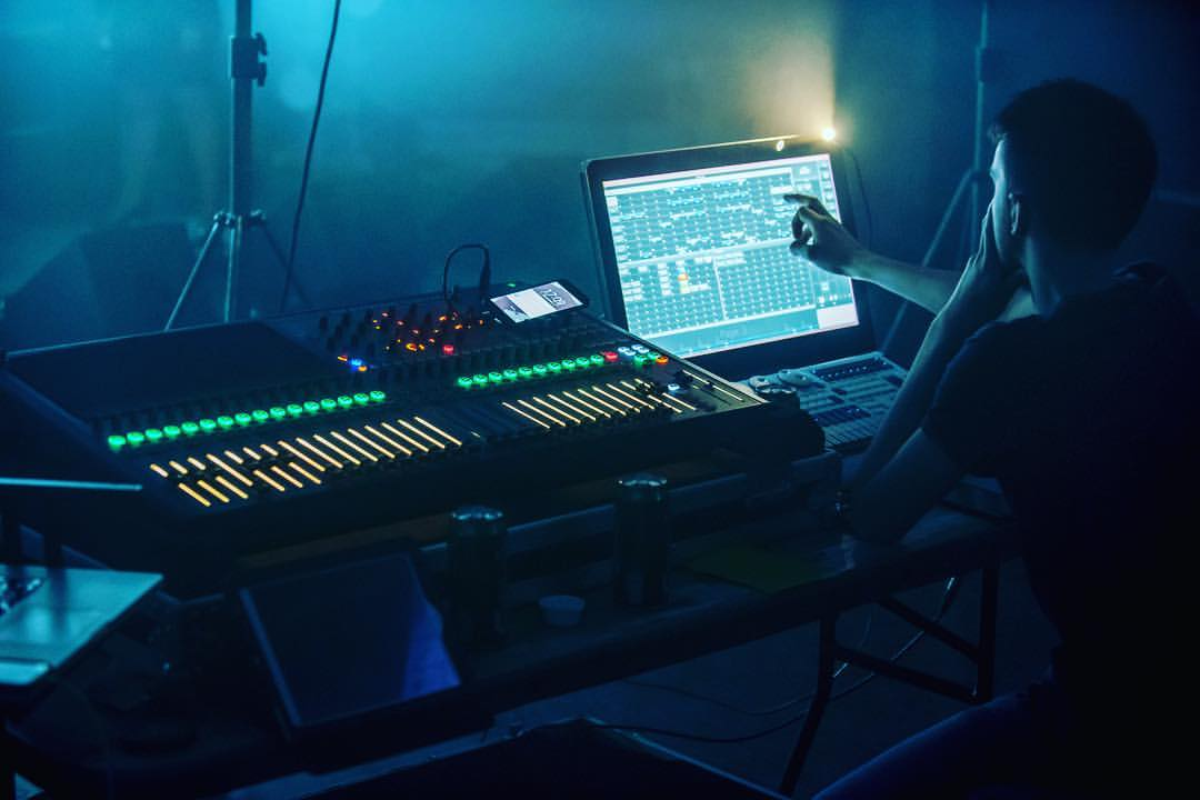 the sound and light desk