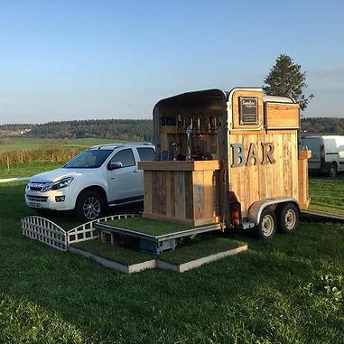 rustic mobile bar hire