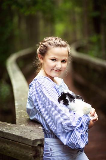 Addi & her bunny