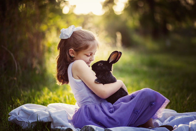 Young lady and her Bunny