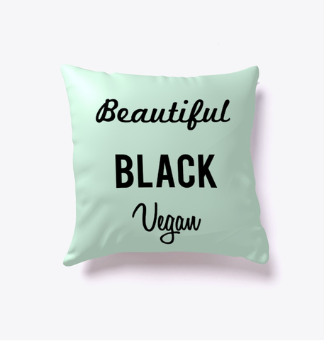 Beautiful Black Vegan Pillows