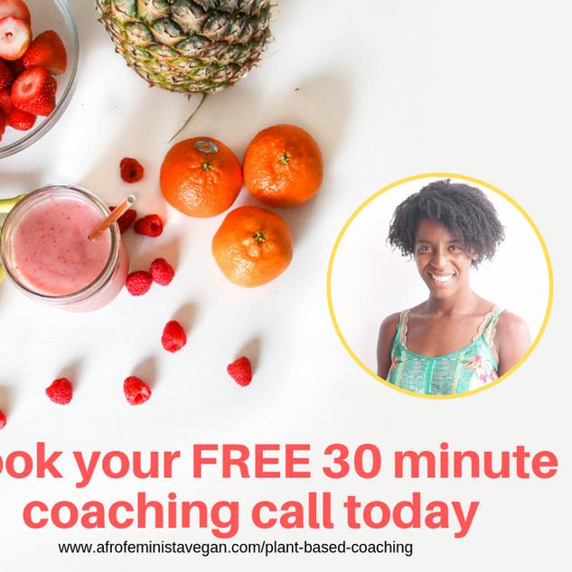 Afro Feminista Vegan coaching advertisement