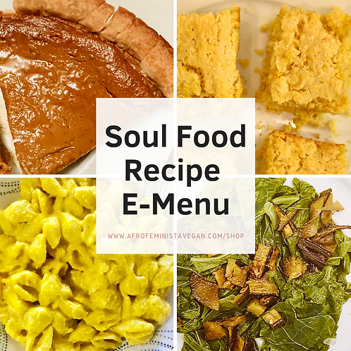 Soul Food Recipe E-Menu
