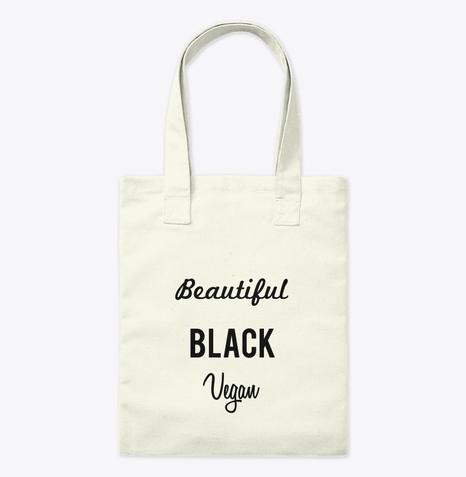 Beautiful Black Vegan Tote Bag