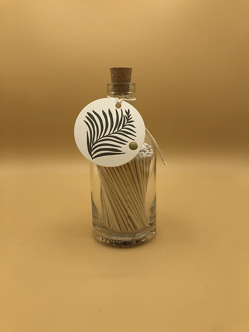 White Palm - Glass Bottle of Candle Matches