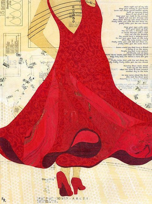 """Red Dress 16"""" x 21"""""""