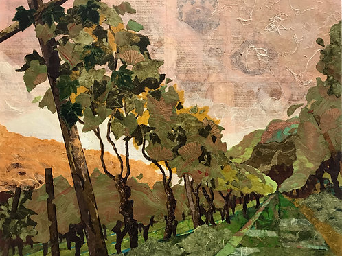 "Morning Glow on Spring Vines 24""x30"""