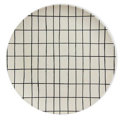 Bambusteller Grid  dia 20cm