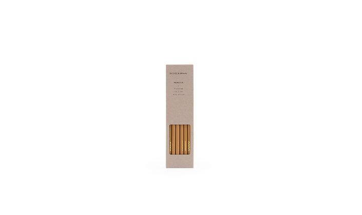 6er Set Bleistifte - Senfgelb