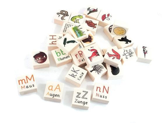 Grüffelo Alphabet Bausteine mit Wörtern