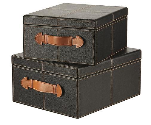 Lederboxen 2er Set