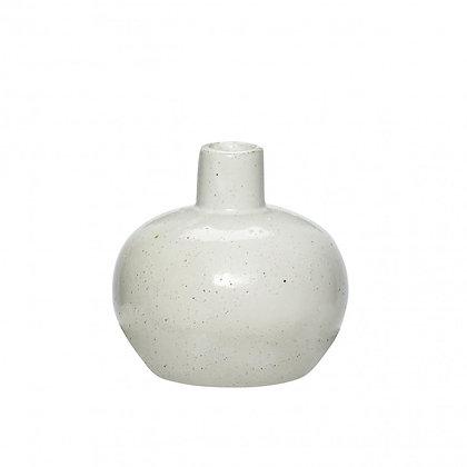 Vase Porzellan weiß/natur