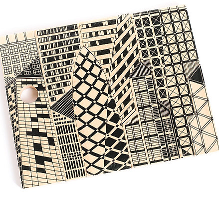 Doppelseitiges Puzzle und Bausteine Skyline