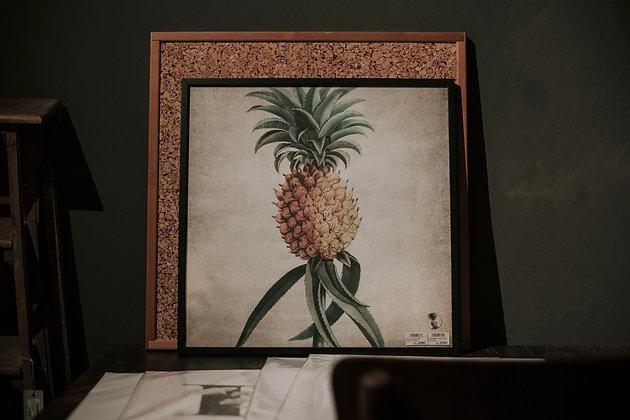 Poster XL Ananas mit Rahmen