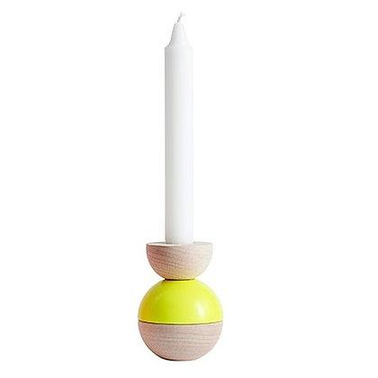Kerzenständer High Bobbel - Gelb - OYOY
