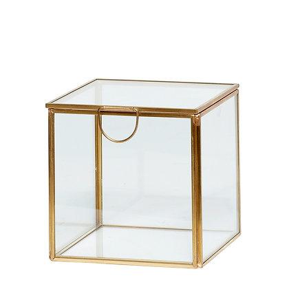 Glasbox Displaybox  Messing/Glas