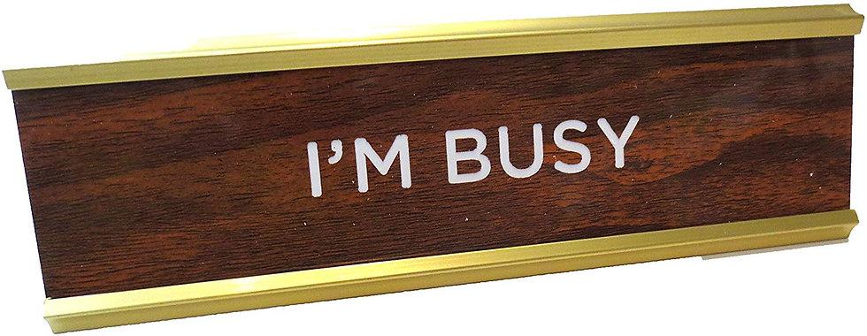 Like a boss plate / I´m busy