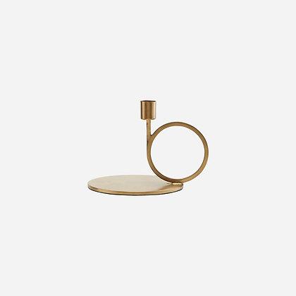 Kerzenhalter Ring Gold