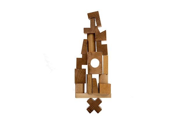 Stacking tower Bausteine asymmetrisch