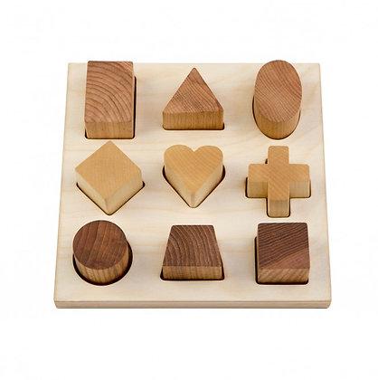 Puzzle Holzbrett 9 verschiedene Formen