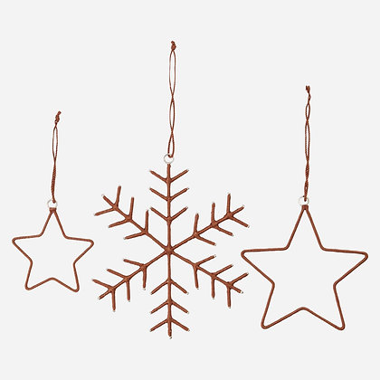 Ornament Dekoration Sterne 3er Set