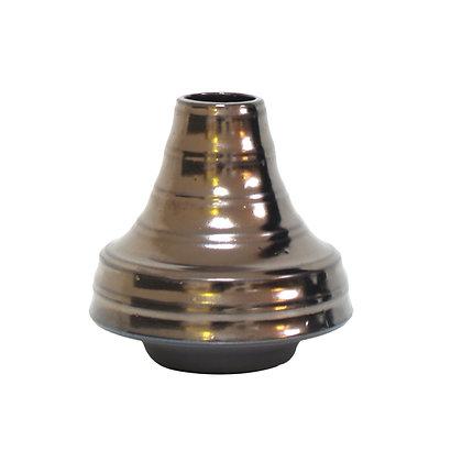 Glänzende Vase mit Bronzeglasur