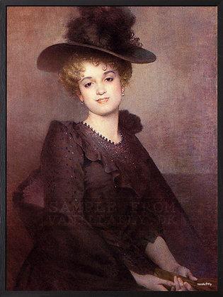 Poster Lady mit Hut