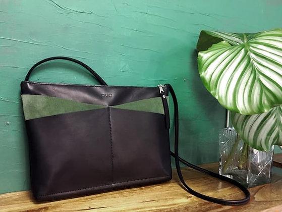 Handtasche Sailing - schwarz / grün