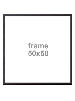 Rahmen 50x50cm Holz Schwarz