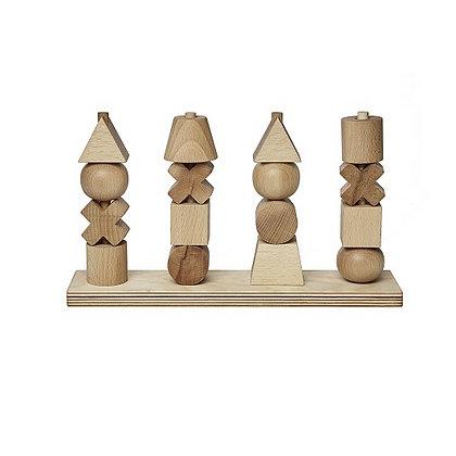 Steckspiel Holzstäbe und Diverse Formen