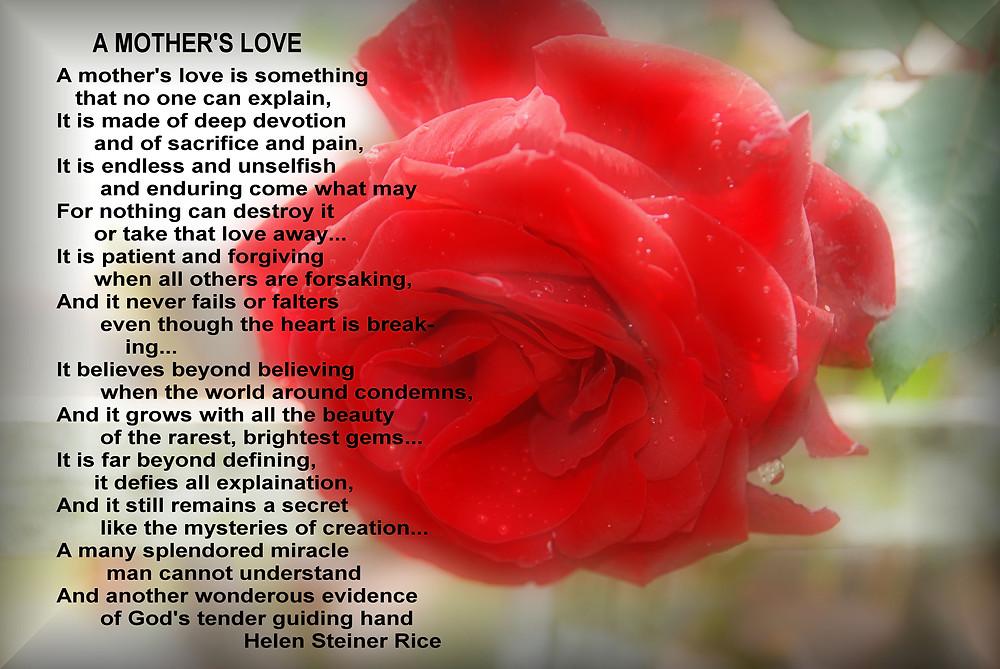 mothers love poem
