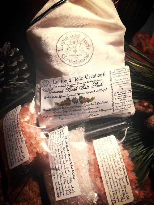 Seasonal Bath Salt 3 Pack