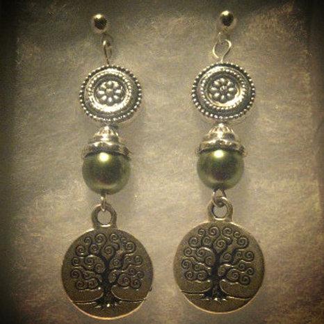 Earrings: Tree of Life Dangle