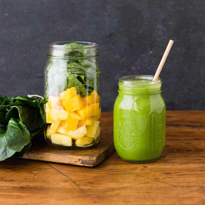 Chia Peach Green Smoothie Recipe