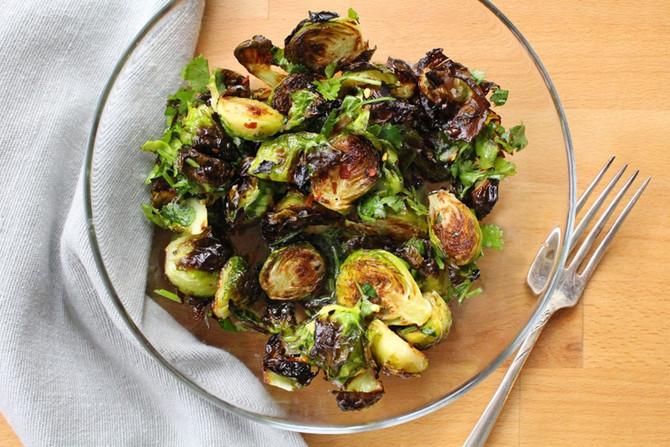 Crispy Garlic-Citrus Brussels Sprouts