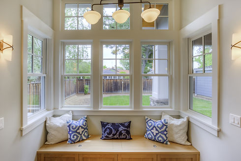 Window Seat with a view to the yard and